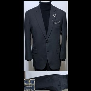 Brooks Brothers Brookease Gray 46R wool 2-PC Suit